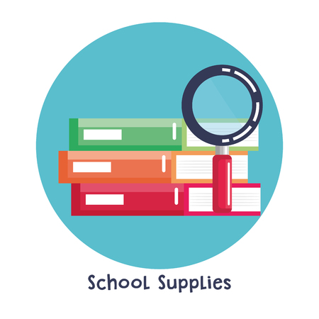Illustration for school supplies set icons vector illustration design - Royalty Free Image