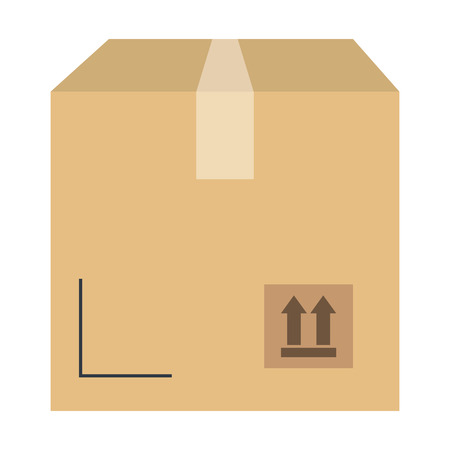 Illustration for delivery carton box icon vector illustration design - Royalty Free Image