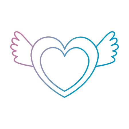 Illustration pour heart love with wings vector illustration design - image libre de droit