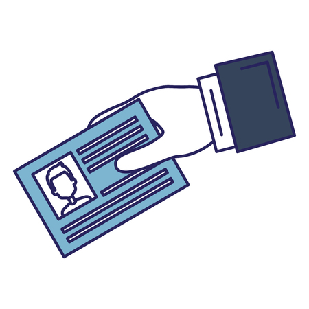 Illustration pour Hand with id document card icon vector illustration design - image libre de droit