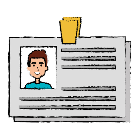 Ilustración de ID document card icon vector illustration design - Imagen libre de derechos