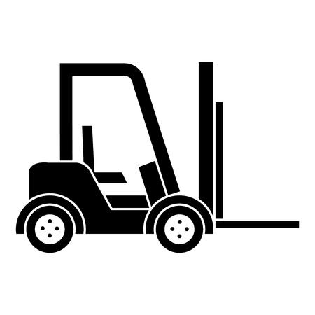 Illustration pour forklift vehicle isolated icon vector illustration design - image libre de droit