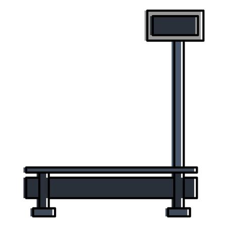 Illustration pour Delivery service scale icon vector illustration design - image libre de droit