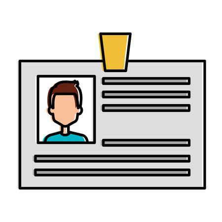 Illustration pour ID document card icon vector illustration design - image libre de droit