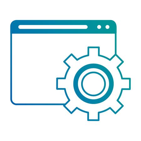 Illustration pour Template web with gears vector illustration design. - image libre de droit