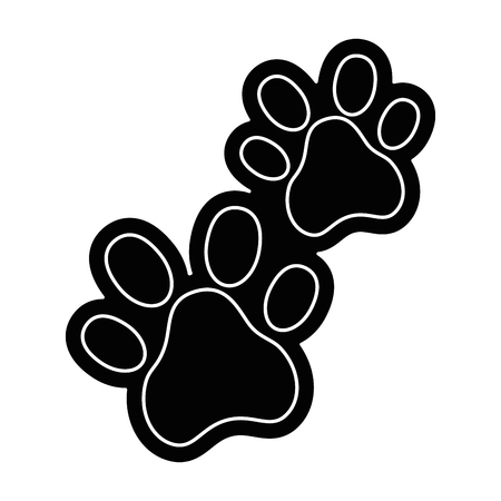 Ilustración de dogs footprints isolated icon vector illustration design - Imagen libre de derechos