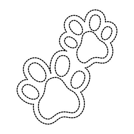 Ilustración de dogs footprints isolated icon vector illustration design - Imagen libre de derechos