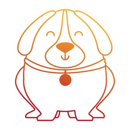 Ilustración de cute dog with necklace vector illustration design - Imagen libre de derechos