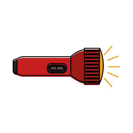 Ilustración de A flash light isolated icon vector illustration design - Imagen libre de derechos