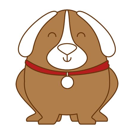 Illustration pour Cute dog with dog collar illustration design. - image libre de droit
