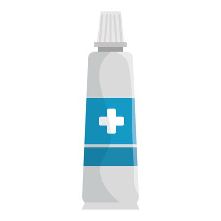 Illustration pour Medical cream isolated icon vector illustration design. - image libre de droit