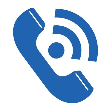 Ilustración de telephone service isolated icon vector illustration design - Imagen libre de derechos