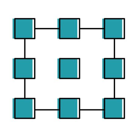 Photo pour Cubes network isolated icon vector illustration design - image libre de droit