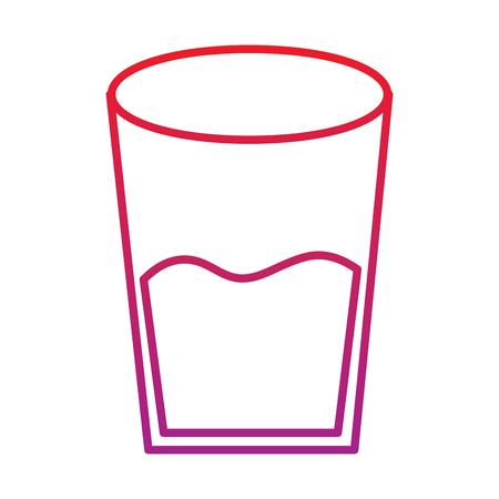 Ilustración de Water glass health beverage liquid pure vector illustration red degraded line color - Imagen libre de derechos