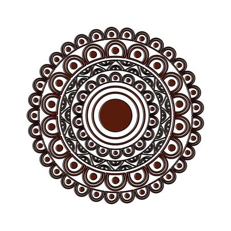Ilustración de ornamental round floral mandala ethnic abstract decoration vector illustration - Imagen libre de derechos