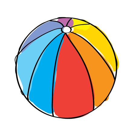 Ilustración de beach ball rubber toy play image vector illustration - Imagen libre de derechos