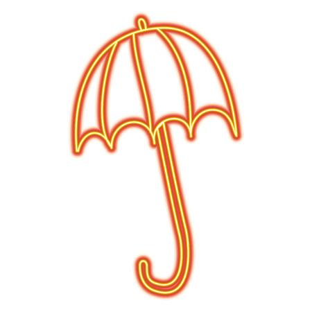 Ilustración de open umbrella protection climate season vector illustration - Imagen libre de derechos
