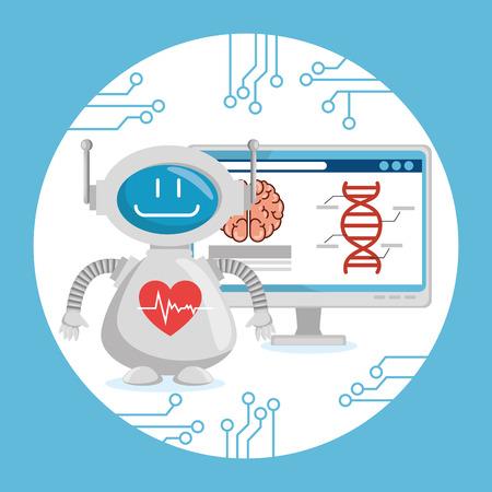 Illustration pour Artificial intelligence technology set icons vector illustration design - image libre de droit