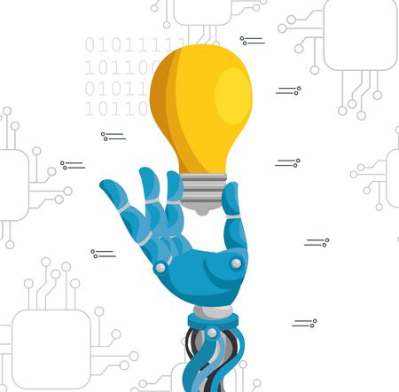 Illustration pour Artificial intelligence technology set icons vector illustration design. - image libre de droit