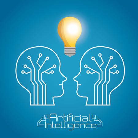 Illustration pour artificial inteligence technology set icons vector illustration design - image libre de droit