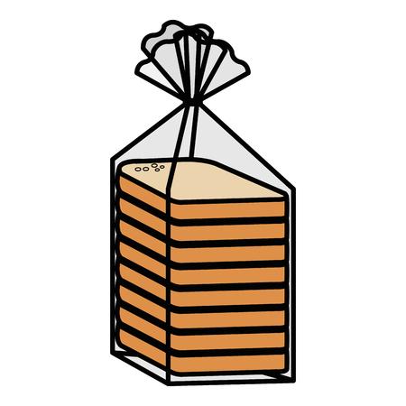Ilustración de bread sliced bag icon vector illustration design - Imagen libre de derechos