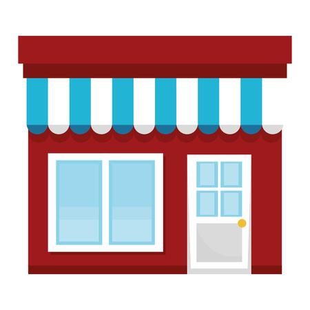 Illustration pour store building front icon vector illustration design - image libre de droit