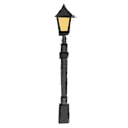 Ilustración de lamp of park icon vector illustration design - Imagen libre de derechos