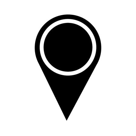 Illustration for map pointer location navigation icon vector illustration pictogram design - Royalty Free Image