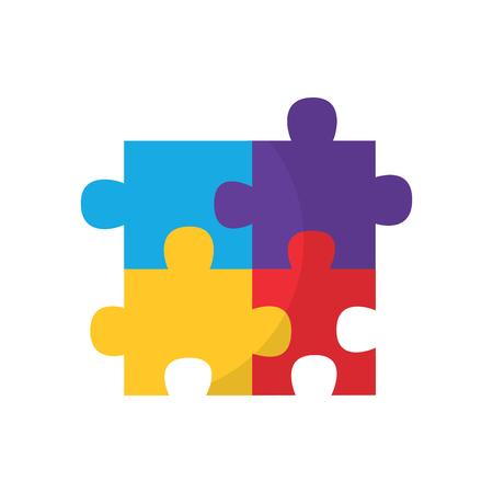 Ilustración de puzzle pieces icon image vector illustration design  - Imagen libre de derechos