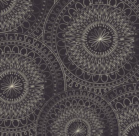 Illustration for Mandala monochrome decoration icon vector illustration design - Royalty Free Image