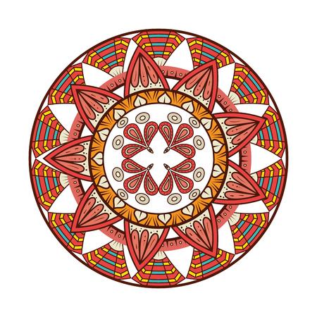 Illustration pour Color mandala decorative icon vector illustration design - image libre de droit
