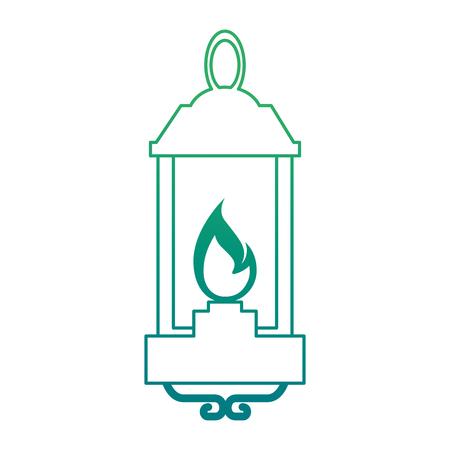 Ilustración de kerosene lantern hanging icon vector illustration design - Imagen libre de derechos