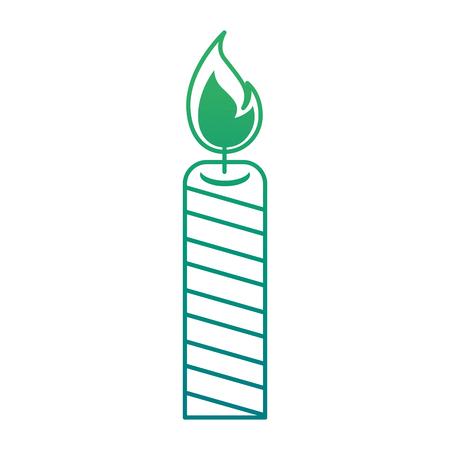 Ilustración de Isolated candle lit on green gradient illustration. - Imagen libre de derechos