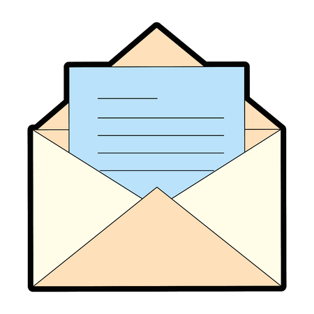 Illustration pour envelope mail isolated icon vector illustration design - image libre de droit