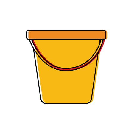 Illustration pour Plastic bucket  vector illustration - image libre de droit
