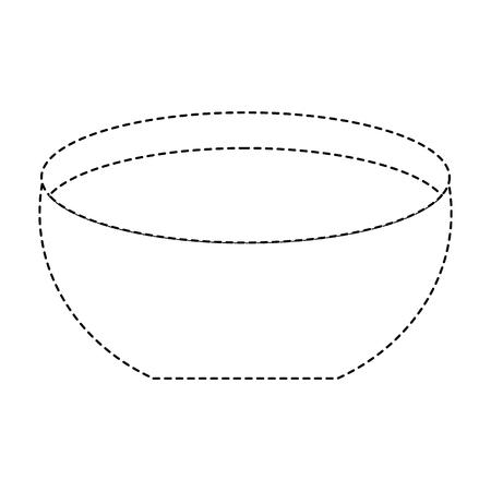 Ilustración de Bowl with water icon vector illustration dotted line design - Imagen libre de derechos