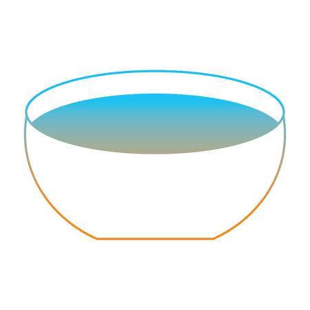Ilustración de Bowl with water icon vector illustration degrade color line image - Imagen libre de derechos