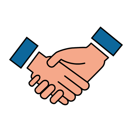 Illustration pour business hands done deal vector illustration design - image libre de droit