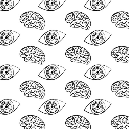 Illustration pour technology eye security brain circuit pattern design vector illustration - image libre de droit