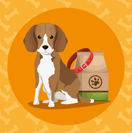 Ilustración de pet shop products set icons vector illustration design - Imagen libre de derechos