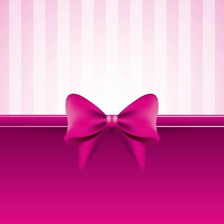 Illustration pour pink background with bow striped pattern decoration vector illustration - image libre de droit