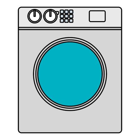 Ilustración de washer machine appliance icon vector illustration design - Imagen libre de derechos