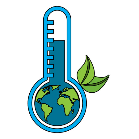 Illustration pour Planet Earth's temperature vector illustration - image libre de droit
