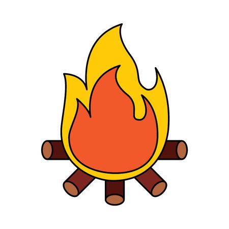 Ilustración de Bonfire vector illustration - Imagen libre de derechos