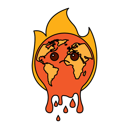 Illustrazione per Melted Earth vector illustration - Immagini Royalty Free