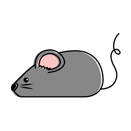 Illustration pour cute mouse isolated icon vector illustration design - image libre de droit
