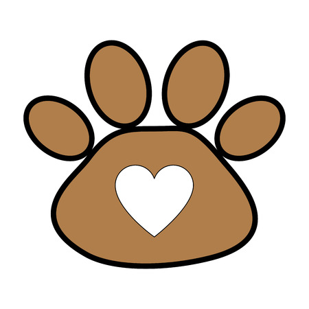 Ilustración de footprint paw mascot icon vector illustration design - Imagen libre de derechos