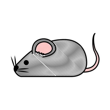Ilustración de cute mouse isolated icon vector illustration design - Imagen libre de derechos
