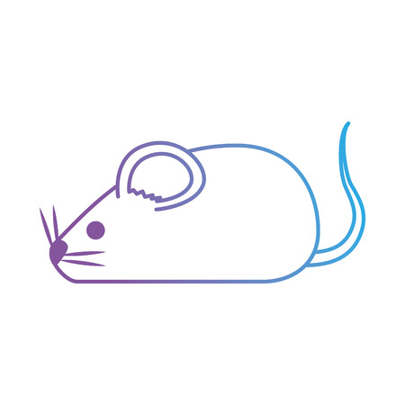 Ilustración de cute mouse isolated icon vector illustration design - Imagen libre de derechos