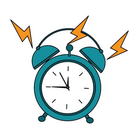 Illustration for alarm clock ringing  icon image vector illustration design  - Royalty Free Image